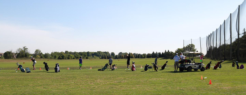 golfers on the driving range at Bathurst Glen