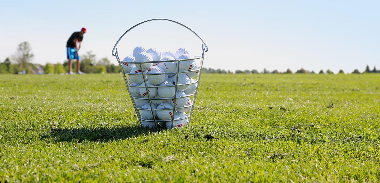 bucket of balls on Bathurst Glen driving range