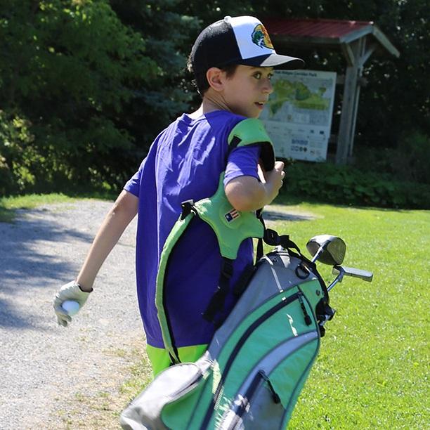 student golfer at Bathurst Glen
